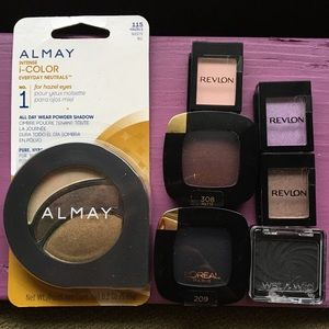 Drugstore Makeup Eyeshadow Bundle Lot Almay Revlon